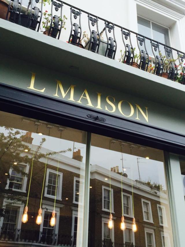 L Maison Notting Hill by Nick Garrett Signwriting