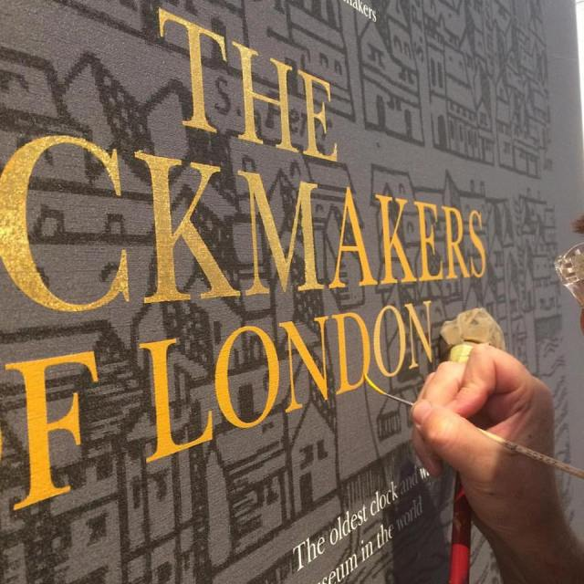 The Clockmakers of London at the Science museum - Nick Garrett sign gilder