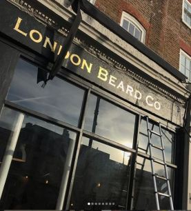 London beard co NGS gilded signage