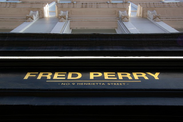 Fred Perry shop sign NGS Signwriter London 1